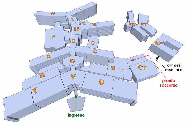Mappa Ospedale Torrette